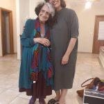 עם השחקנית רות פרחי בצילומים לסרט