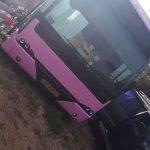 אוטובוס עירוני של אגד לשעבר המשמש כיום למגורים .