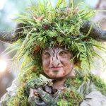 פסל חי של שדון יער שהכנתי. האף עשוי מסיליקון