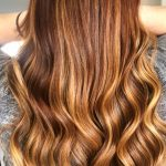 Hair color and wavy hair style