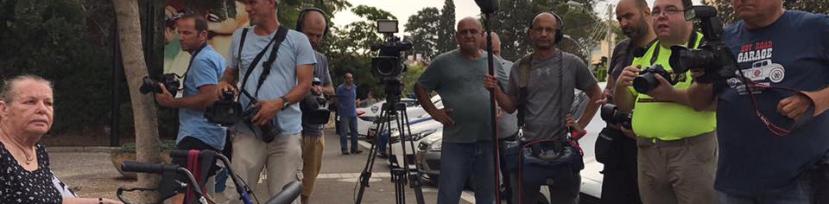 הפגנת הנכים בחיפה - תמונה של עיתונאי חיפה והצפון